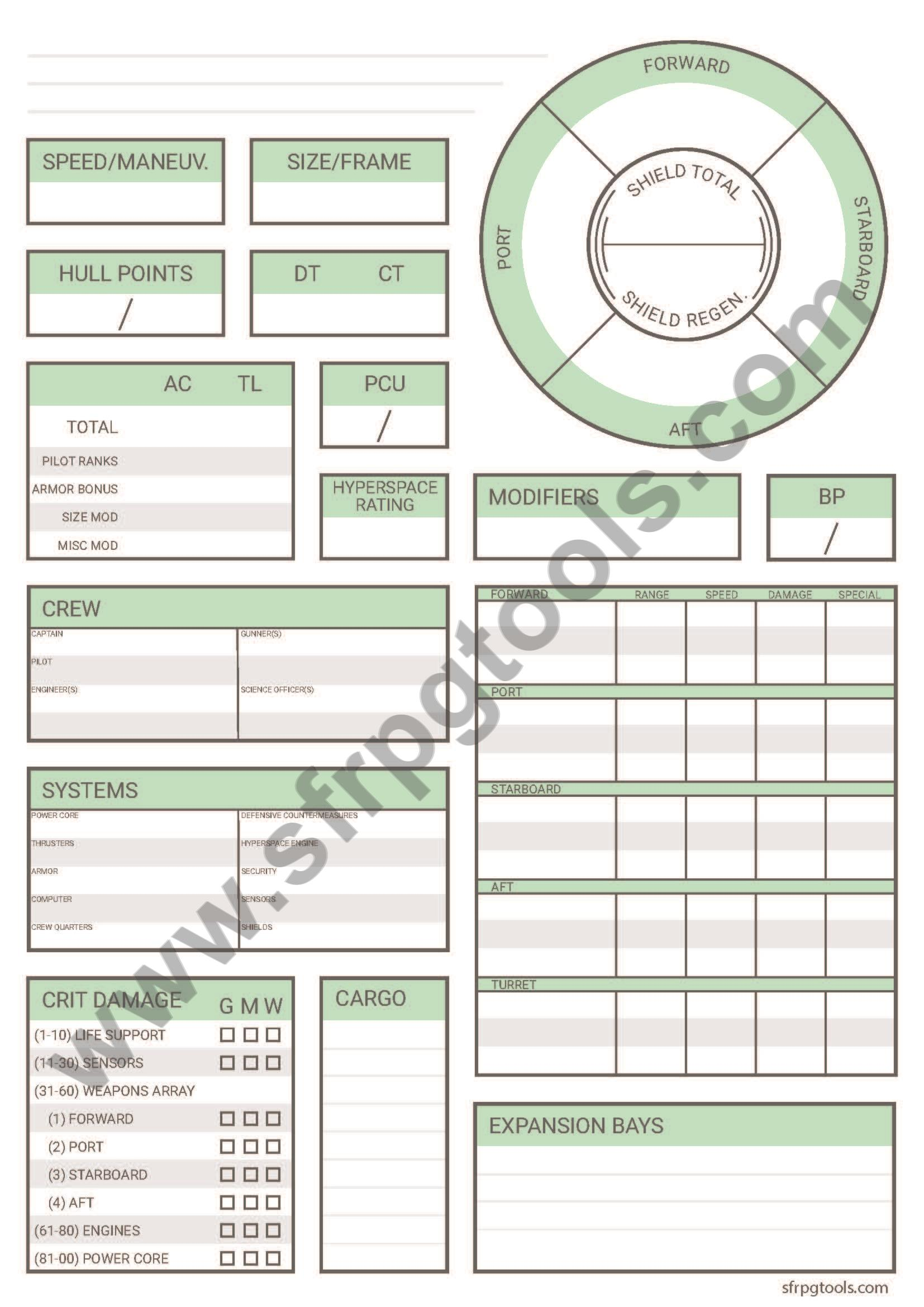 picture about Starfinder Character Sheet Printable named Option Starfinder Temperament Sheet